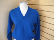 Girls Royal Blue Pullover Sweater TK-8
