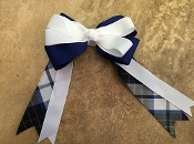 Garfield Plaid Large Clip Bow
