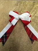 Lima Plaid Large Clip Bow