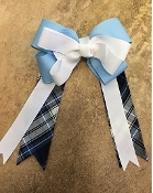 SIMMONS PLAID LARGE CLIP BOW