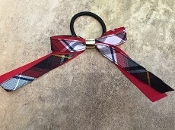 Linus Plaid Scrunchie Bow