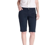 Girls Navy Bermuda Shorts
